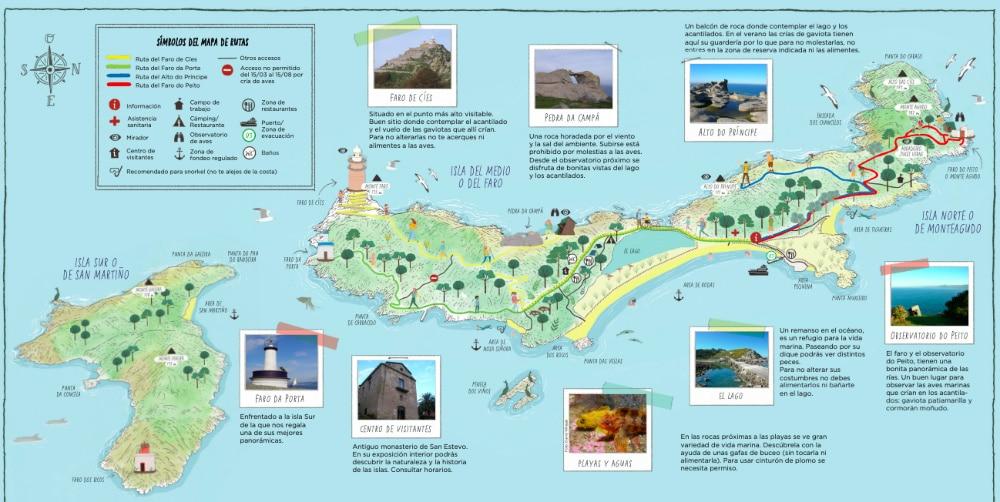 Mapa de Islas Cíes